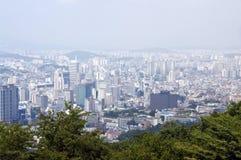 Panorama di Seoul Immagini Stock Libere da Diritti