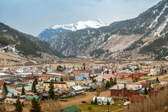 Panorama di Silverton, Colorado, U.S.A. Immagine Stock