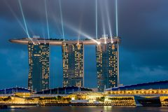 Panorama di Singapore Fotografia Stock Libera da Diritti
