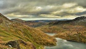 Panorama di Snowdonia Fotografia Stock