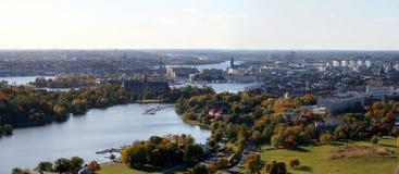 Panorama di Stoccolma Fotografia Stock Libera da Diritti