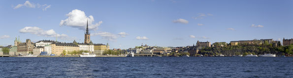 Panorama di Stoccolma Fotografie Stock Libere da Diritti
