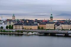 Panorama di Stoccolma con due churchs Immagini Stock Libere da Diritti