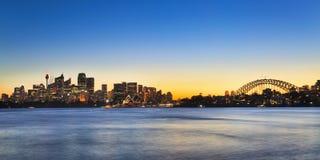 Panorama di Sydney CBD Cremorne 01 Immagini Stock