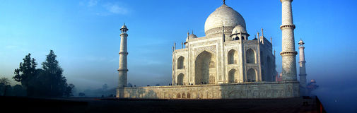 Panorama di Taj Mahal fotografie stock libere da diritti