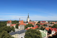 Panorama di Tallinn Fotografia Stock