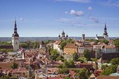 Panorama di Tallinn Immagine Stock Libera da Diritti
