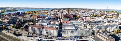 Panorama di Tampere Fotografie Stock