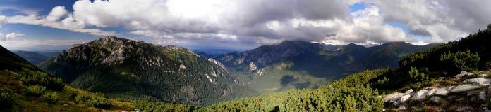 Panorama di Tatras Ornak Fotografia Stock Libera da Diritti