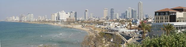 Panorama di Tel Aviv Fotografie Stock Libere da Diritti