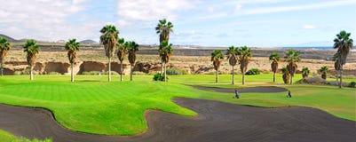 Panorama di terreno da golf Fotografia Stock