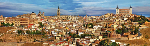 Panorama di Toledo Fotografia Stock