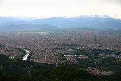 Panorama di Torino Immagine Stock Libera da Diritti