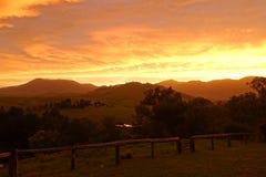 Panorama di tramonto al parco nazionale di Glouster fotografia stock