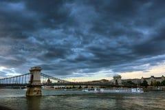 Panorama di tramonto di Budapest Ungheria di Budapest Ungheria con il Ch immagine stock