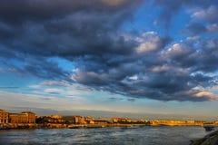 Panorama di tramonto di Budapest Ungheria di Budapest Ungheria con il Ch fotografia stock