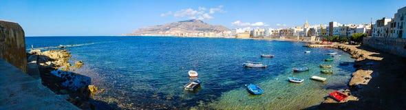 Panorama di Trapani (Sicilia) Fotografia Stock