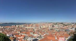 Panorama di trascuratezza di Lisbona Fotografia Stock Libera da Diritti