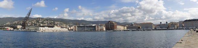 Panorama di Trieste Fotografia Stock