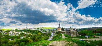 Panorama di un castello antico Immagini Stock