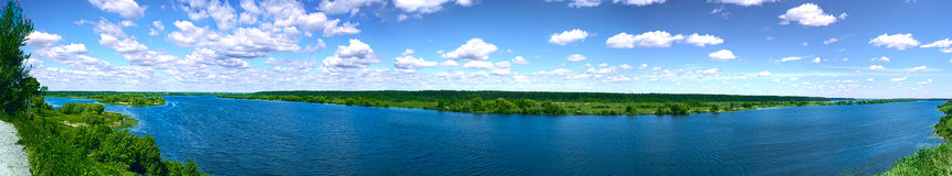 Panorama di un fiume Immagini Stock Libere da Diritti