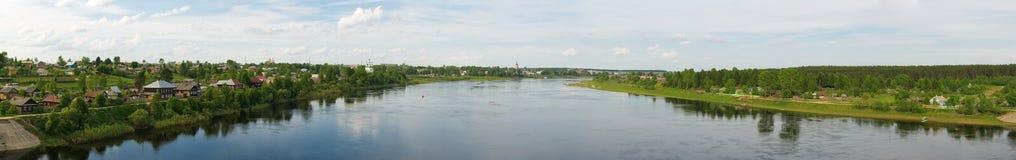 Panorama di un paesaggio di estate Fotografia Stock