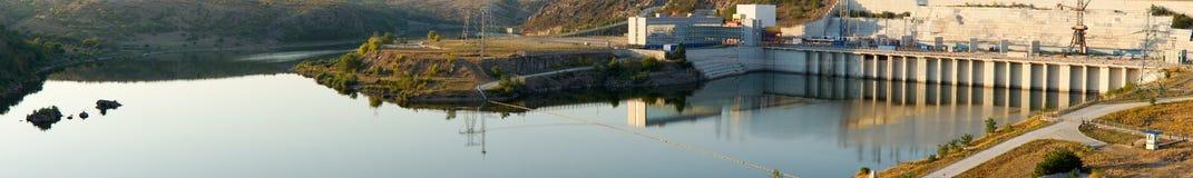 Panorama di una diga e di una parete Fotografia Stock Libera da Diritti
