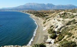 Panorama di una spiaggia greca Fotografia Stock Libera da Diritti