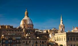 Panorama di Valletta, Malta Fotografie Stock Libere da Diritti