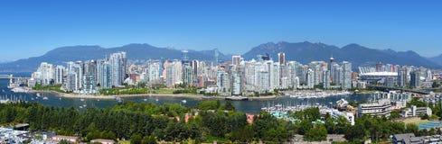 Panorama di Vancouver Fotografia Stock