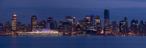 Panorama di Vancouver Fotografie Stock