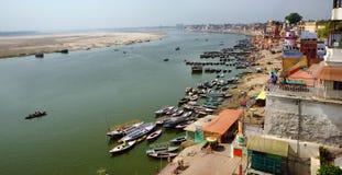 Panorama di Varanasi Fotografia Stock Libera da Diritti