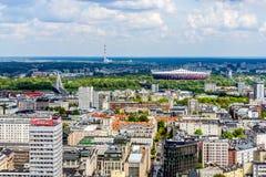 Panorama di Varsavia Immagini Stock Libere da Diritti