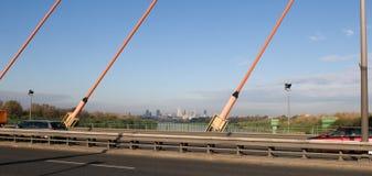 Panorama di Varsavia e del Vistola Fotografie Stock Libere da Diritti