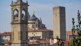 Panorama di vecchia Bergamo, Italia Bergamo, anche chiamata dei Mille, la città di La Citt del mille, è una città in Lombardia, n Fotografia Stock
