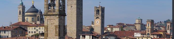 Panorama di vecchia Bergamo, Italia Bergamo, anche chiamata dei Mille, la città di La Citt del mille, è una città in Lombardia, n Immagini Stock