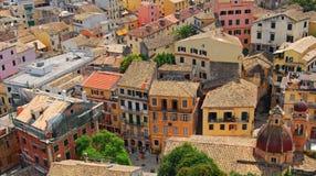 Panorama di vecchia città Fotografia Stock