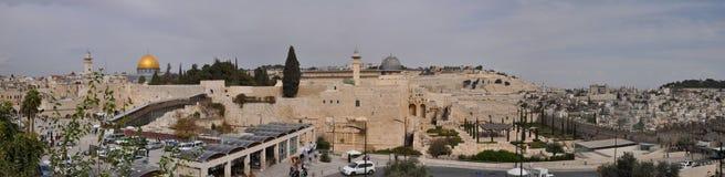 Panorama di vecchia città di Gerusalemme Fotografia Stock Libera da Diritti