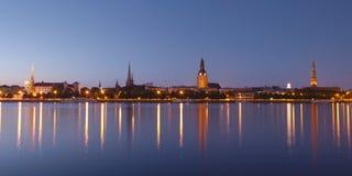 Panorama di vecchia Riga Fotografia Stock Libera da Diritti