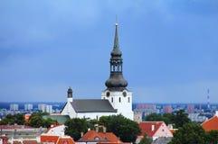 Panorama di vecchia Tallinn Fotografia Stock