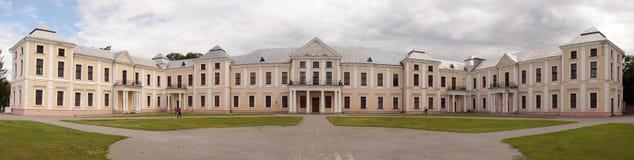 Panorama di vecchio palazzo storico di Vyshnivets, regione di Ternopil, U Immagine Stock