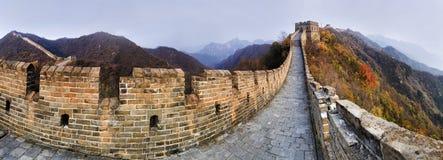 Panorama di verde della grande muraglia 9 del CN Fotografie Stock