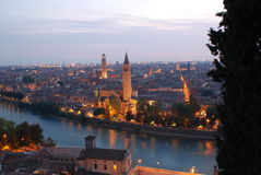Panorama di Verona immagine stock
