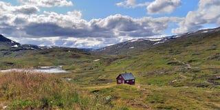 Panorama di Vikafjell in Norvegia Immagini Stock