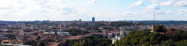 Panorama di Vilnius Fotografia Stock