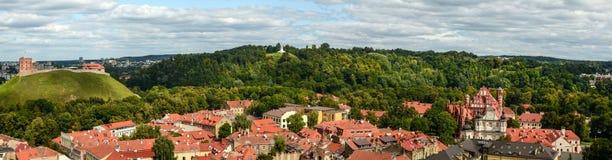 Panorama di Vilnius Fotografie Stock Libere da Diritti