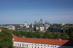 Panorama di Vilnius dalla collina del castello Immagine Stock Libera da Diritti