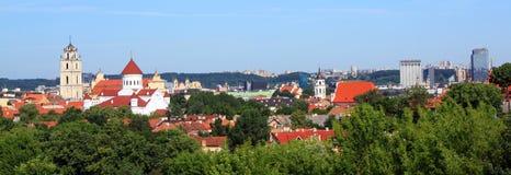 Panorama di Vilnius, Lituania Fotografia Stock Libera da Diritti