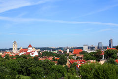 Panorama di Vilnius, Lituania Immagine Stock