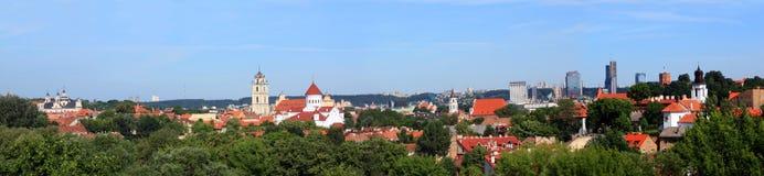 Panorama di Vilnius, Lituania Fotografia Stock